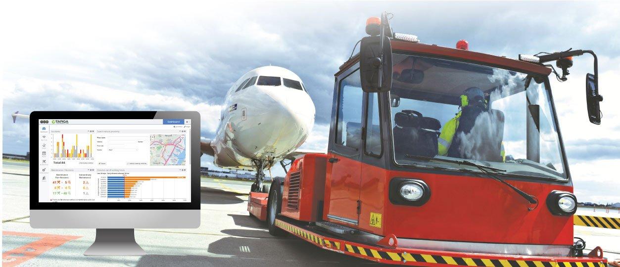 Mezzi Aeroportuali Targa Telematics Monitoraggio e Riduzione Costi Operativi